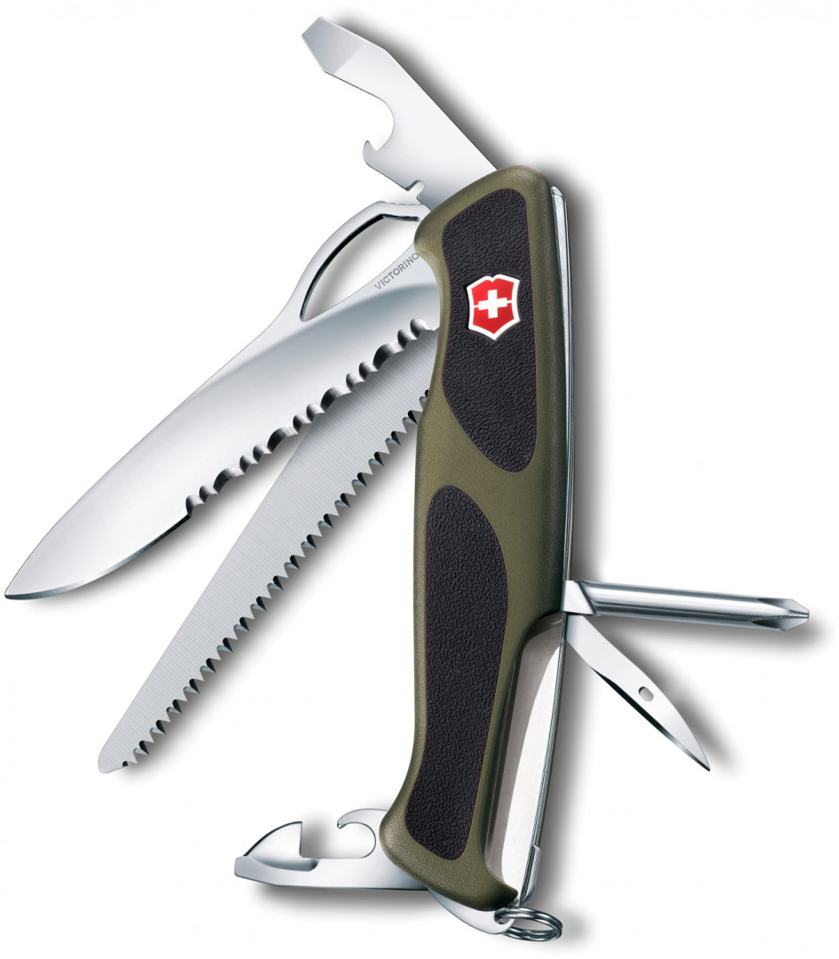 SWISS ARMY KNIFE 130mm RANGER GRIP 178 GREEN/BLACK