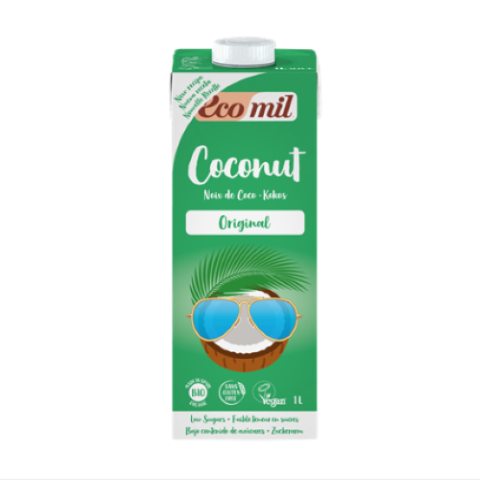 ECOMIL COCONUT MILK WITH AGAVE 1L