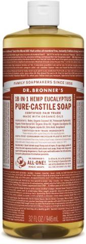 DR BRONNERS 18 IN 1 HEMP EUCALY SOAP 946ML