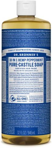 DR BRONNERS 18 IN 1 HEMP PEPPERMINT SOAP 946ML