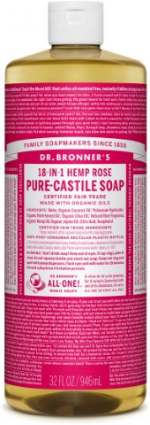 DR BRONNERS 18 IN 1 HEMP ROSE SOAP 946ML