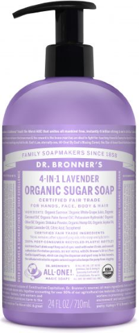 DR BRONNERS HAND BODY LAVENDER SOAP 710ML