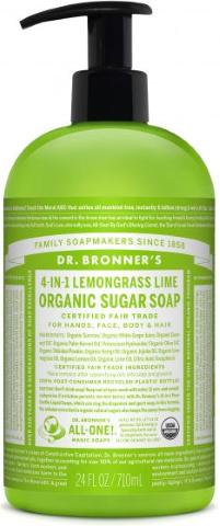 DR BRONNERS HAND BODY LEMONGRASS SOAP 710ML