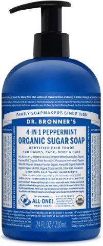 DR BRONNERS HAND BODY SOAP PEPPERMINT 710ML