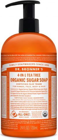 DR BRONNERS HAND BODY TEA TREE SOAP 710ML