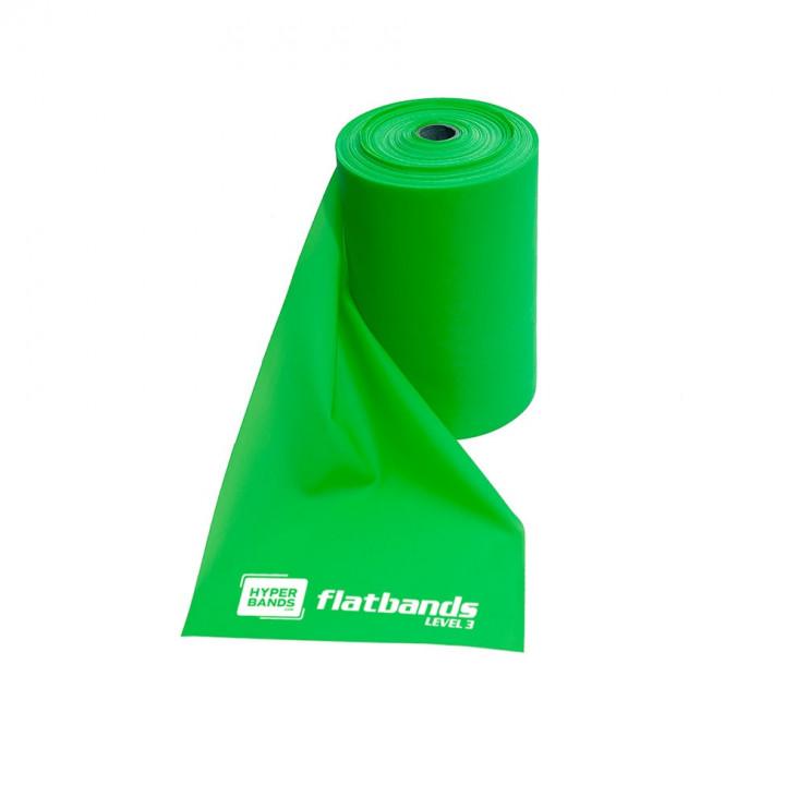 Hyperbands Flatbands - Heavy (Green) - 25 m (Roll)