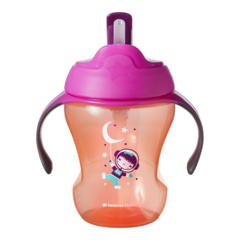 TOMMEE TIPPEE EASY DRINK STRAW GIRL 6M+