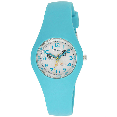 Ravel-Kid's silicone Butterfly Watch - Green -  31mm