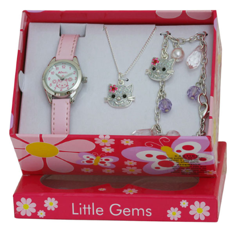 Little Gems Gift Set - Kitten - Pink - 24mm