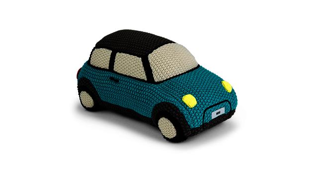 MINI Car Knitted - aqua
