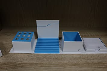 BMW i desk organizer - White/Blue