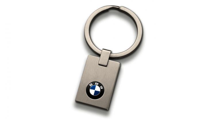 BMW key ring logo small - Silver
