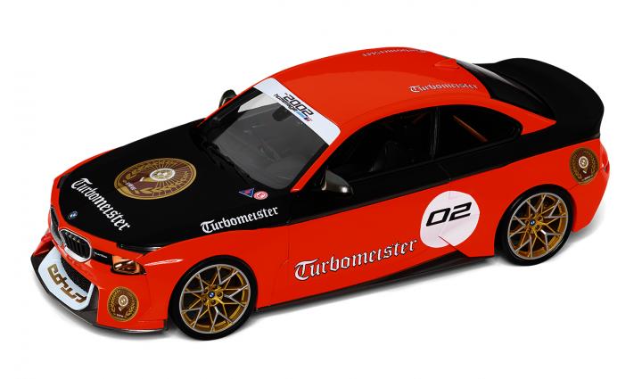 BMW miniature 2002 Hom.Turbomeister 1:18 - Orange/Black