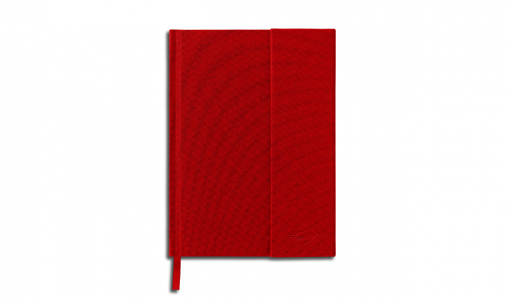 MINI notebook cloth-bound - Red