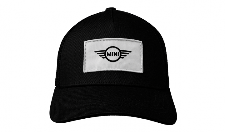 MINI cap trucker logo patch - Black