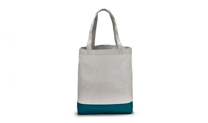 MINI Shopper Colour Block - White/Aqua