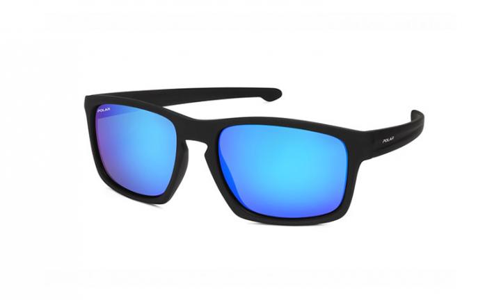 Polar 351   - Matte Black/ Blue Mirror - 57