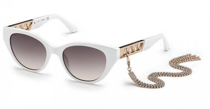 Guess 7690 - White/Brown Gradient - 52