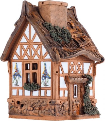 CERAMIC CANDLE HOUSE FROM FANTASY COLLECTION - 16 CM - Medium