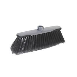 Σκούπα Mega με επαγγελματικό κεφάλι . Προφυλακτήρες antiblows -Mega Professional Broom Head. Antiblows Bumpers - Γκρι/ Μαύρο  - Size:Height: 12 cm; Length: 33 cm;Width: 9 cm.