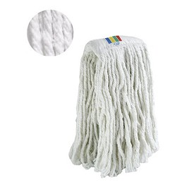 Βιομηχανικοί Φλόκκοι - Industrial Kentucky wet mop. Thick cotton yarn  - White - 400 gr.