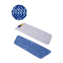Πανέτα Σφουγγαρίστρα με Velcro από Terry Μικροΐνες  (Ανταλλακτικό ) / Velcro Terry Microfibre Mop Refill - Μπλέ / Blue -  40 cm - πλάτος (witdh) 13 cm