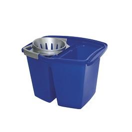Duplo Κουβάς με Διπλό σύστημα κάδων με στίφτη Duplo Bucket  - Μπλε/ Γκρι    - Capacity: 14 litres.