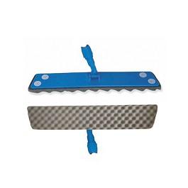 Βάση με επιπρόσθετο υπόστρωμα  Αφρού για Πανάκια μιας χρήσης  / Floating Mop pad holder for Dust Catchers. Foam sole with holes to hold dust catchers. -  Μπλε, Γκρίζο  - 60 cm