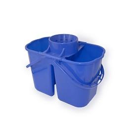 Duo Exclusive Κάδος με διπλούς ξεχωριστούς κάδους / Duo Exclusive Bucket & Wringer  - Μπλε / Blue - Capacity: 15 litres.