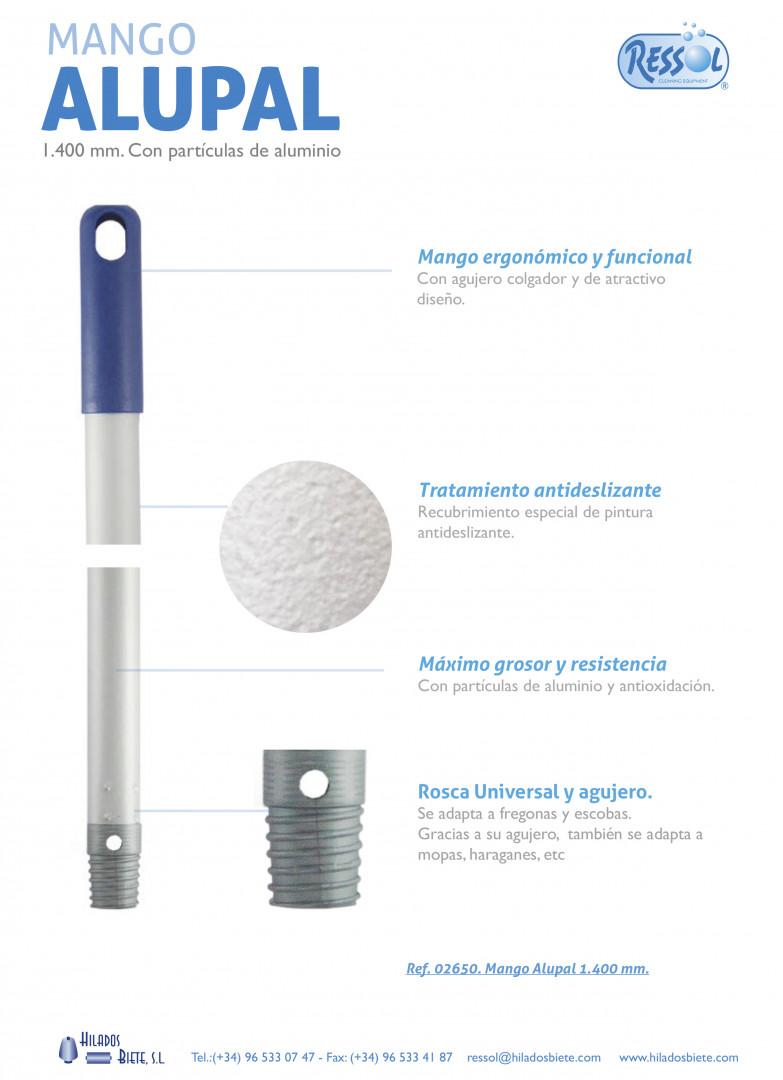 Κοντάρια - Alupal λαβή αλουμινίου / Alupal Handle - Μπλε / Blue - Size:1,400 mm. 0.34 mm thickness. 22 mm Ø diameter