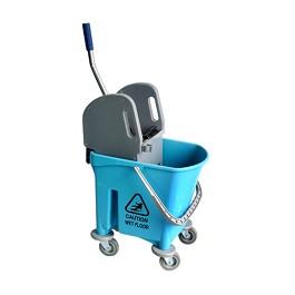 Κουβάς (μονός) με ρόδες / Alex Bucket With Wheels + Stilo Wringer   - Light blue - Χωρητικότητα: 25 λίτρα. Μέγεθος: 34 x 61 x 94 εκ