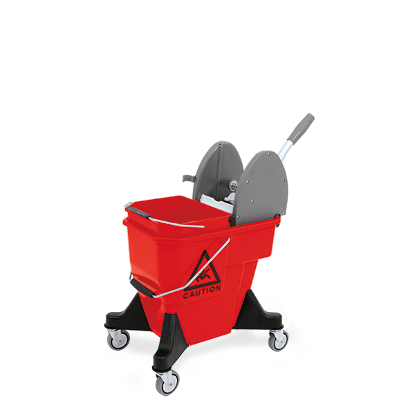Duo plastic mopping bucket equipped with wringer for kentucky mops,  - Μπλε με Μπλε σκελετό - MOP BUCKET CAPACITY: 20L +12L                                                 52 x 40 x 82h cm