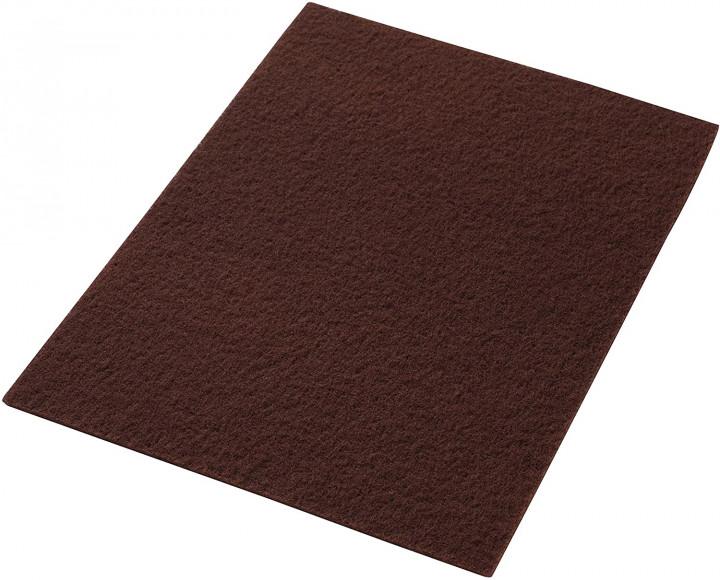 Maroon ορθογώνια τσόχα από ίνες - Καφέ / Brown  - 12 x 25 x 2 cm