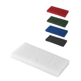 Άσπρη ορθογώνια τσόχα από ίνες - Άσπρο / White  - 12 x 25 x 2 cm