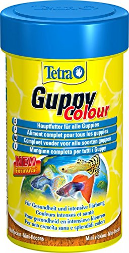 TETRA FOOD FOR FISH GUPPY COLOUR MINI FLAKES 30g/100ml