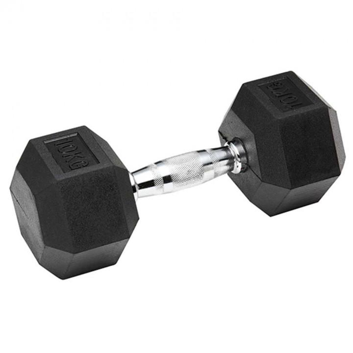 Hex Dumbbells: 10 kg (Pair) - black