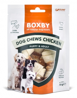 BOXBY DOG CHEWS CHICKEN  - 70GR, 6 PCS