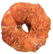 DUCK WRAPPED RAWHIDE DONUT - 75GR,1 PIECE