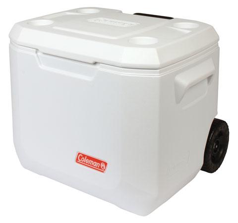 Coleman 50QT Wheeled Xtreme Marine Cooler - WHITE - 50QT/47LT