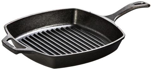 LODGE L8SGP3 Square Cast iron Grill Pan (26,67cm)