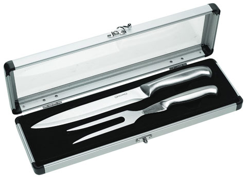 GrillPro SS Carving Set with Case