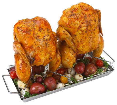 GrillPro SS Double Chicken Roaster