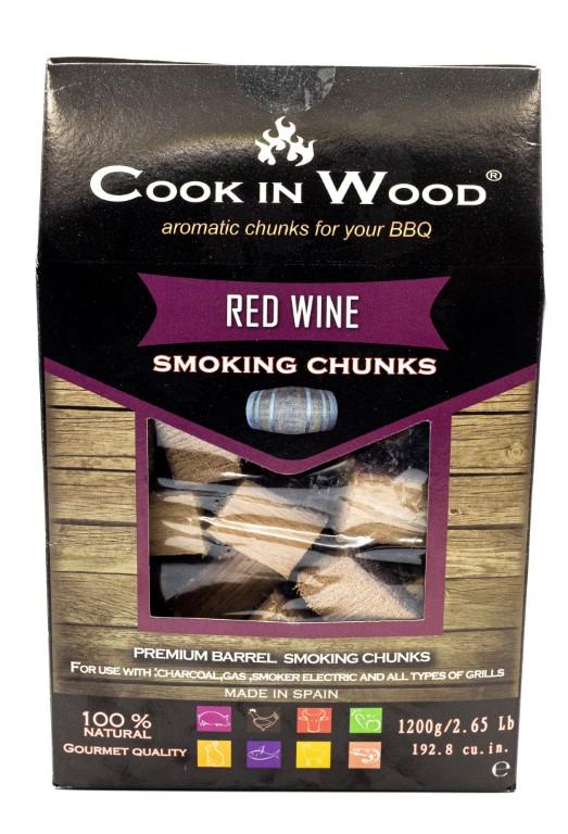 COOKINWOOD 1200gr RED WINE SMOKING CHUNKS