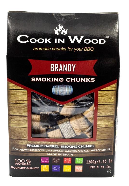 COOKINWOOD 1200gr BRANDY SMOKING CHUNKS