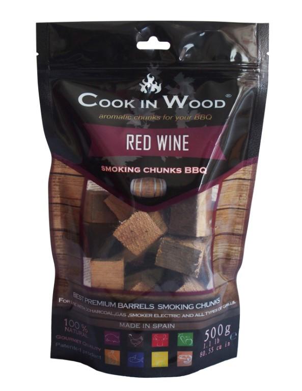 COOKINWOOD 500gr RED WINE SMOKING CHUNKS