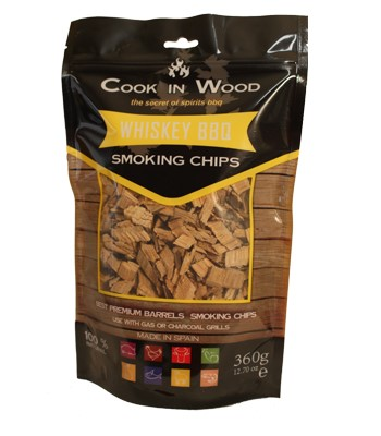 COOKINWOOD 360gr WHISKEY SMOKING CHIPS