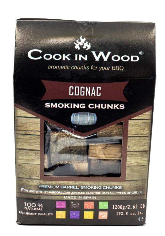 COOKINWOOD 1200gr COGNAC SMOKING CHUNKS