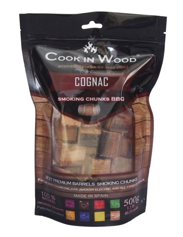 COOKINWOOD  500gr  COGNAC SMOKING CHUNKS