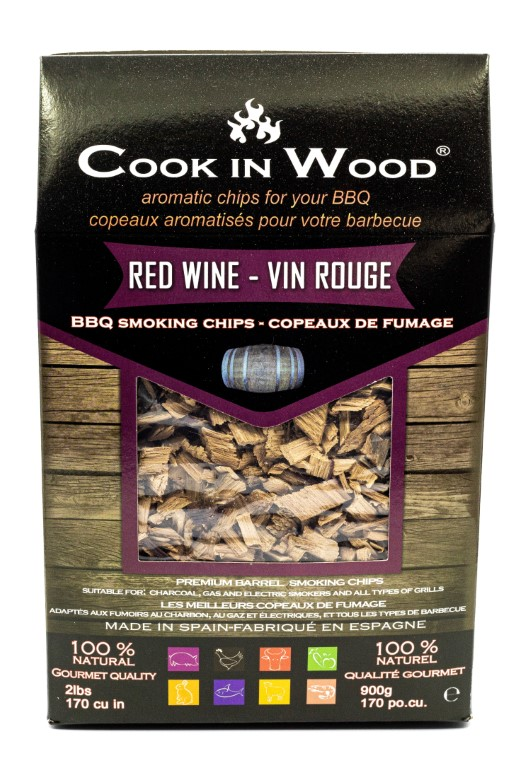 COOKINWOOD 900gr RED WINE SMOKING CHIPS