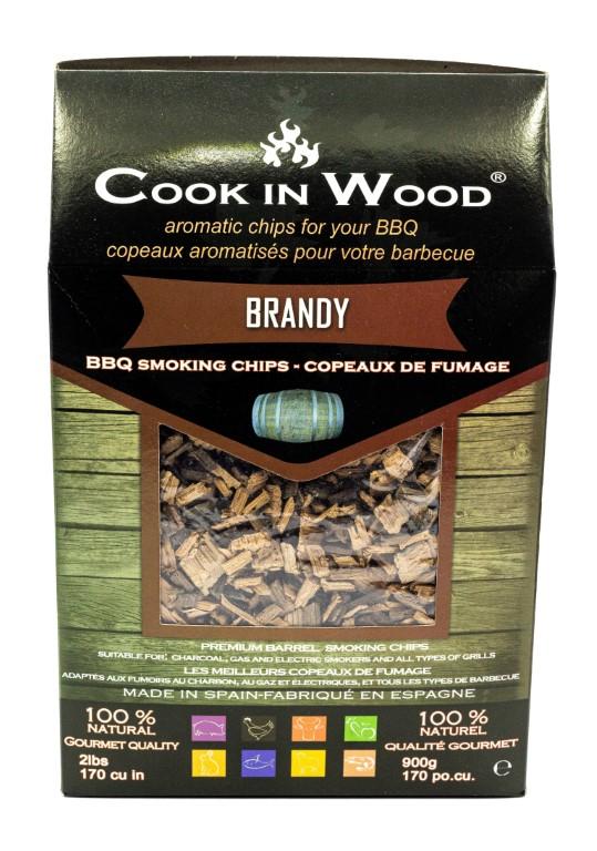 COOKINWOOD 900gr BRANDY SMOKING CHIPS